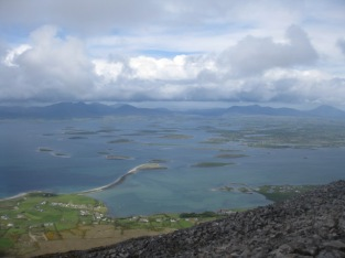 View from the top of Croagh Patrick