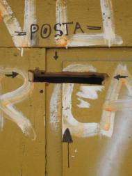 Friday Foto!  Homemade Romanian Mailboxes