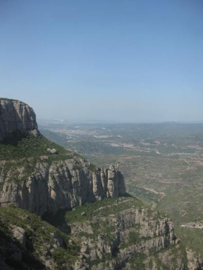 The valley below Montserrat