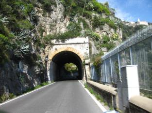 Tunnel between Praiano and San Pietro