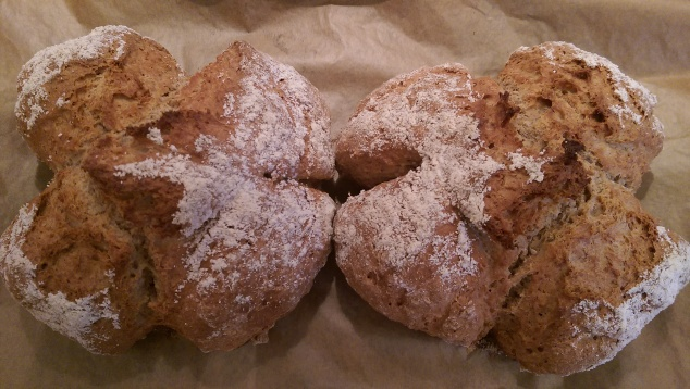 Soda bread fresh out of the oven