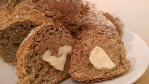 Soda bread slathered in butter