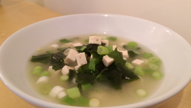 Miso soup made with white miso paste