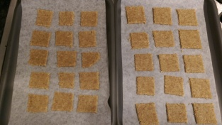 Cheddar oatcakes before baking